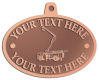 Ace Recognition Copper KeyTag, Medal, Pendant - with your text and logo - service trucks, crane trucks, aerial equipment, bucket trucks, utility equipment, bucket cranes, booms, telescopic booms
