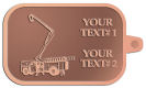 Ace Recognition Copper KeyTag - with your text and logo - service trucks, crane trucks, aerial equipment, bucket trucks, utility equipment, bucket cranes, booms, telescopic booms