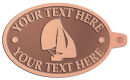 Ace Recognition Copper KeyTag - with your text and logo - catboat, daggerboard, sailboats, sail boat, sailing ships, sailing boats, sails, sailing-boats