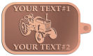 Ace Recognition Copper KeyTag - with your text and logo - tractors, farm equipment, farm machinery, farm machines, field implements, farm implements