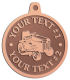 Ace Recognition Copper KeyTag, Medal, Pendant - with your text and logo - lawn tractors, riding mowers, garden tractors, lawn mowers