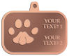 Ace Recognition Copper KeyTag, Medal, Pendant - with your text and logo - abstract, animals, art, foot, foot-mark, footprints pattern, paws, pawprints, pets, prints, zoo