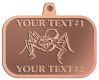 Ace Recognition Copper KeyTag, Medal, Pendant - with your text and logo - Sports, mascots, spiders, teams, high school, college, university