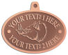 Ace Recognition Copper KeyTag, Medal, Pendant - with your text and logo - Sports, mascots, animals, pigs, teams, high school, college, university
