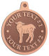 Ace Recognition Copper KeyTag, Medal, Pendant - with your text and logo - farm, farming, lambs, sheep, wool, young, animals, easter, animals, cattle, domestic, ewes, farms, fleece, fleecy,  livestock, mammal, mutton, ram, sheep, white, wool, woollen