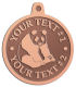 Ace Recognition Copper KeyTag, Medal, Pendant - with your text and logo - ailuropoda, panda bears, bears, animals, china, chinese, cubs, giant, nature, small, wild, wildlife, asia, asian, bamboo, china chinese, melanoleuca, oriental, , zoo, zoology
