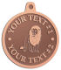 Ace Recognition Copper KeyTag, Medal, Pendant - with your text and logo - lion, lioness, lionhearted, male, mane, wild, wildlife, zoo,  african, animals, cats, jungle, king, felines, safari