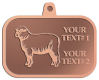 Ace Recognition Copper KeyTag, Medal, Pendant - with your text and logo - animals,  domestic, ewes, farms, fleece, fleecy, livestock, mammals, mutton, rams, sheep, suffolk, white, wool, woollen