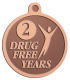 Ace Recognition Copper KeyTag, Medal, Pendant - with your text and logo - recovery, recovery celebration, recovery milestones, motivational, drug free, drug recovery