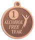 Ace Recognition Copper KeyTag, Medal, Pendant - with your text and logo - recovery, recovery celebration, recovery milestones, motivational, alcohol free, sobriety
