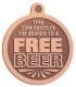 Ace Recognition Copper KeyTag, Medal, Pendant - with your text and logo - free, tokens, free tokens, free beer, beer, beer tokens