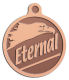 Ace Recognition Copper KeyTag, Medal, Pendant - with your text and logo - eagles, bird of prey, patriotic, inspirational, strength, symbol, democracy, United States, USA, bald eagle