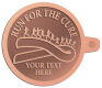 Ace Recognition Copper KeyTag - with your text and logo - attitude, awareness, breast, cancer, celebrate, celebration, challenge, charity, courageous, health, hope, marathon, medical, miracle, pink, race, recover, recovery, ribbon, run, support, survival, survive, survivor, symbol, symbolic, therapy