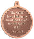 Ace Recognition Copper KeyTag, Medal, Pendant - with your text and logo - Christian Designs - Thy word have I hid in mine heart, that I might not sin against thee.  Psalms 119:11  religious, metal