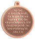 Ace Recognition Copper KeyTag, Medal, Pendant - with your text and logo - Christian Designs - For God so loved the world, that he gave his only begotten Son, that whosoever believeth in him should not perish, but have everlasting life.  John 3:16