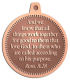 Ace Recognition Copper KeyTag, Medal, Pendant - with your text and logo - Christian Designs - And we know that all things work together for good to them that love God, to them who are the called according to his purpose.  Romans 8:28, metal