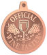 Ace Recognition Copper KeyTag, Medal, Pendant - with your text and logo - Winery, sommelier, wine glasses, grapes, alcohol, beverages, celebrations, cellars, classical, corks, drinks, food, fruit, goblets, grapes, grapevines, restaurant, romantic, tavern, vintage, vine, wine tasting, wine-testers, wine testers