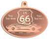 Ace Recognition Copper KeyTag, Medal, Pendant - with your text and logo - Car designs - US route 66 - corvette - vintage cars - sports car - your text, route 66, route sixty six, route sixty-six, historic highway, historic road, mother road, transportation
