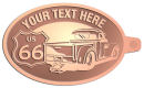 Ace Recognition Copper KeyTag - with your text and logo - Truck designs - US route 66 - vintage trucks - classic trucks - trucks - pickup - your text, route 66, route sixty six, route sixty-six, historic highway, historic road, mother road
