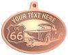 Ace Recognition Copper KeyTag, Medal, Pendant - with your text and logo - Truck designs - US route 66 - vintage trucks - classic trucks - trucks - pickup - your text, route 66, route sixty six, route sixty-six, historic highway, historic road, mother road