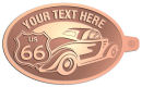 Ace Recognition Copper KeyTag - with your text and logo - Car designs - US route 66 - vintage cars - classic cars - coupe - sports car - your text, route 66, route sixty six, route sixty-six, historic highway, historic road, mother road