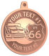 Ace Recognition Copper KeyTag, Medal, Pendant - with your text and logo - Car Designs - US route 66 - classic car - roadster - vintage car - your text, route 66, route sixty six, route sixty-six, historic highway, historic road, mother road, transportation