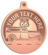 Ace Recognition Copper KeyTag, Medal, Pendant - with your text and logo - Car Designs - US route 66 - classic car- roadster - vintage cars - your text, route 66, route sixty six, route sixty-six, historic highway, historic road, mother road, transportation
