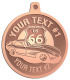 Ace Recognition Copper KeyTag, Medal, Pendant - with your text and logo - Car Designs - classic car - roadster - vintage cars - corvette - sports car - your text, transportation, metal