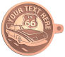 Ace Recognition Copper KeyTag - with your text and logo - Car Designs - classic car - roadster - vintage cars - sports car - your text, transportation, metal