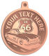 Ace Recognition Copper KeyTag, Medal, Pendant - with your text and logo - Car Designs - US route 66 - convertible - vintage cars - sports car - your text, transportation, metal