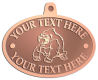 Ace Recognition Copper KeyTag, Medal, Pendant - with your text and logo - Sports, mascots, sports, animals, gorillas, teams, high school, college, university