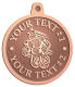 Ace Recognition Copper KeyTag, Medal, Pendant - with your text and logo - Aliens, ufos, robots