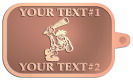 Ace Recognition Copper KeyTag - with your text and logo - Cavemen, caveman, prehistoric, primal