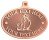 Ace Recognition Copper KeyTag, Medal, Pendant - with your text and logo - Sports, mascots, sports, walrus, sea creatures, teams, high school, college, university