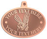 Ace Recognition Copper KeyTag, Medal, Pendant - with your text and logo - Sports, mascots, insects, flies, bees, wasps, high school, college, university
