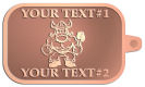 Ace Recognition Copper KeyTag - with your text and logo - Sports, mascots, vikings, norsemen, high school, college, university
