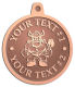 Ace Recognition Copper KeyTag, Medal, Pendant - with your text and logo - Sports, mascots, vikings, norsemen, high school, college, university