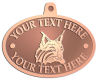 Ace Recognition Copper KeyTag, Medal, Pendant - with your text and logo - Sports, mascots, animals, high school, college, university