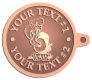 Ace Recognition Copper KeyTag - with your text and logo - Sports, mascots, birds, buzzards, high school, college, university