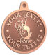 Ace Recognition Copper KeyTag, Medal, Pendant - with your text and logo - Sports, mascots, birds, buzzards, high school, college, university