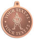 Ace Recognition Copper KeyTag, Medal, Pendant - with your text and logo - Sports, mascots, soldiers, roman soldiers, high school, college, university