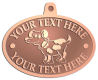 Ace Recognition Copper KeyTag, Medal, Pendant - with your text and logo - Sports, mascots, sports, animals, dogs, canines, teams, high school, college, university