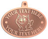 Ace Recognition Copper KeyTag, Medal, Pendant - with your text and logo - Sports, mascots, cats, felines, high school, college, university