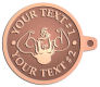 Ace Recognition Copper KeyTag - with your text and logo - Men, man, bodybuilding, body-building, weightlifting