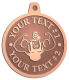 Ace Recognition Copper KeyTag, Medal, Pendant - with your text and logo - Men, man, bodybuilding, body-building, weightlifting