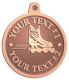 Ace Recognition Copper KeyTag, Medal, Pendant - with your text and logo - rollerblades, inline skating, action, active, athletic, blade, boot, enjoy, exercise, extreme, fit, fitness, fun, hockey, inline, leisure, outside, play, recreating, recreation, ride, roll, roller, rollerblade, rollerblading, skate, skating, sport, wheel