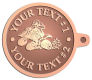 Ace Recognition Copper KeyTag - with your text and logo - all terrain vehicles, atv, atvs, off road, off-road, 4-wheeler, atv, bike,drive, fast, four, machine, motocross, off-road, power, powerful, quad, race, red, ride, road, sky, sport, tires, tool, traction, trail, transport, transportation, wheel