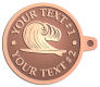 Ace Recognition Copper KeyTag - with your text and logo - waves, surfboard, surfing, surfers, surf, tropical, tropics, water, wind, boarding, dynamic, energy, sea, speed, splash, sport