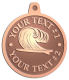 Ace Recognition Copper KeyTag, Medal, Pendant - with your text and logo - waves, surfboard, surfing, surfers, surf, tropical, tropics, water, wind, boarding, dynamic, energy, sea, speed, splash, sport