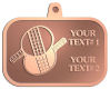 Ace Recognition Copper KeyTag, Medal, Pendant - with your text and logo - ping pong, paddles, table tennis